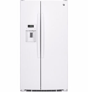 Refrigerator - GE Side-by-side (White) 26 Cu ft