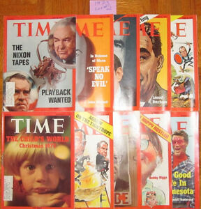 VINTAGE TIME MAGAZINES