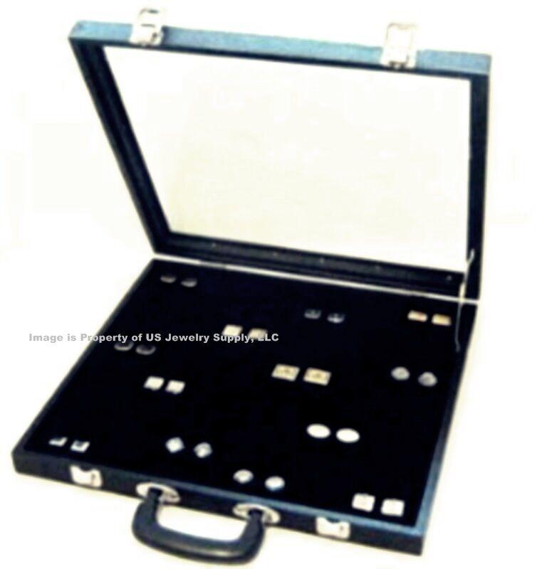 X-Lrg 72 Pair Cufflinks Cuff Link Display Storage Case with Handle