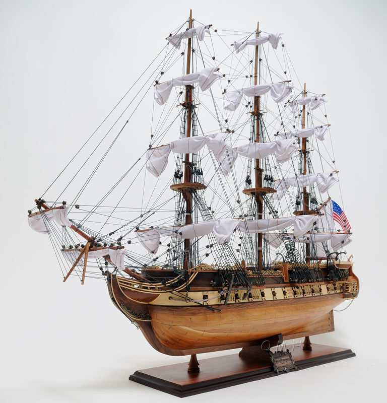 "USS Constitution Exclusive Edition 38"" - Handcrafted Wooden Model Ship T012"