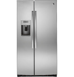 """GE Profile 36""""Side-by-Side Refrigerator with Dispenser Stainless"""