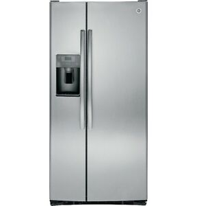 GE 23 CuFt Side-by-Side Refrigerator with Dispenser (GSS23HSBCS)