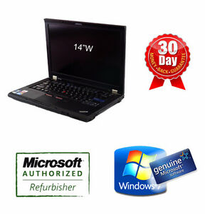 "14""W Lenovo Laptop T410 i5 2.66G, 4G, 320G, DVDRW, Camera, Win 7"