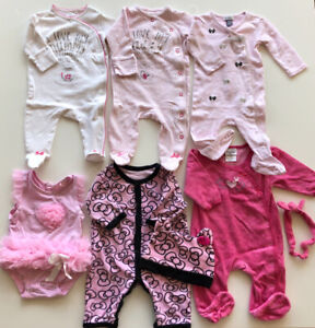 Baby girls onesies and socks 0-3 month