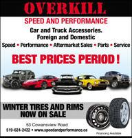 Overkill Automotive and Performance center. Best prices !!!!!