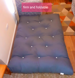 Blue Foldable Futon/bed/sofa'Layabout' made in Manchester