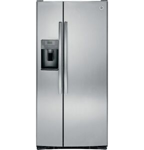GE 23 CuFt Side-by-Side Refrigerator with Dispenser (GSS23SHBCS)