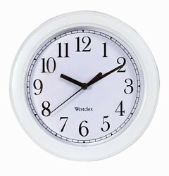 New WESTCLOX White 9 Wall Clock Quartz Battery Operated 46994A Home Office NIB!