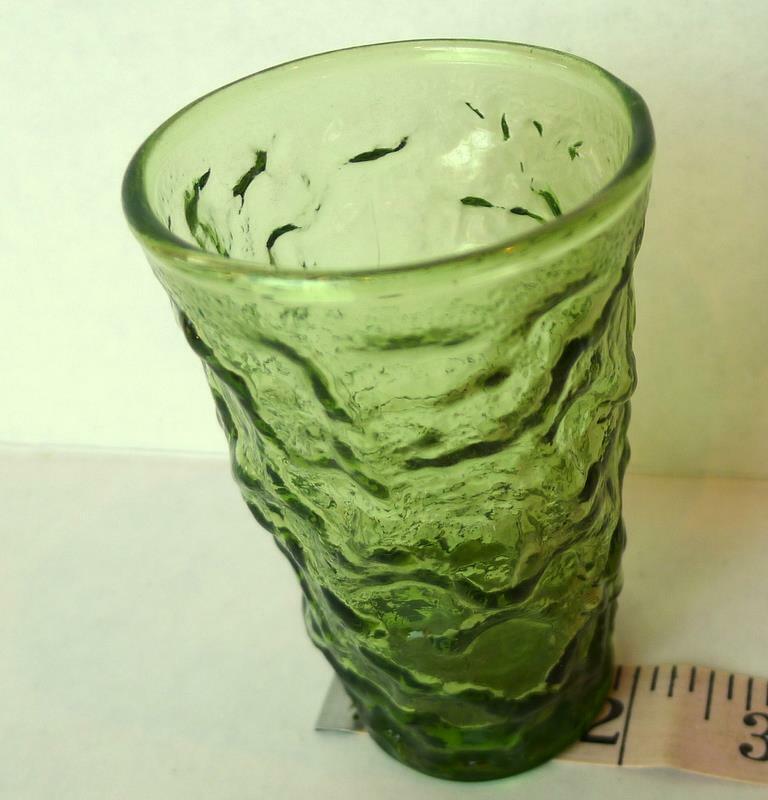 Avocado Green Lido Juice Glass Vintage Anchor Hocking