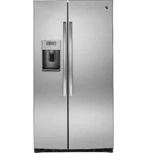 GE 25 CuFt Side-by-Side Refrigerator with Dispenser (PSE25KSHSS)