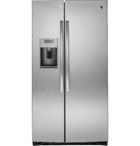 "GE Profile 36""Side-by-Side Refrigerator with Dispenser Stainless"