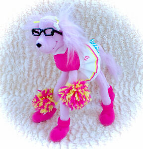 2002 100% Complete Barbie Dog Poodle With Glasses Poseable