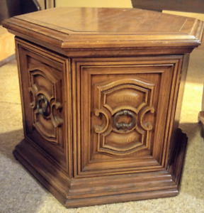 Wooden side table, with storage space