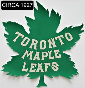"LARGE 10"" TORONTO ST PATS LEAFS & CANADIENS VINTAGE STYLE PATCH"