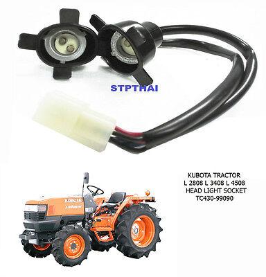 Used For Kubota Tractor L 2808 3408 4508 Head Light Head Lamp Socket Set