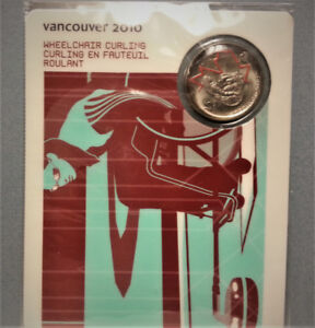 2010 Vancouver Olympic Wheelchair Curling Sports Card and Coin