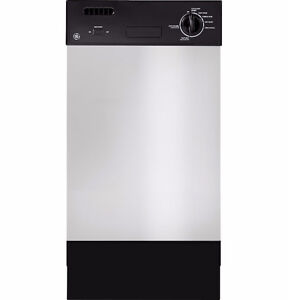 """GE 18"""" Spacemaker Stainless Steel Dishwasher"""