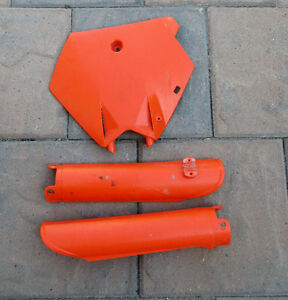 KTM front number plate & fork covers