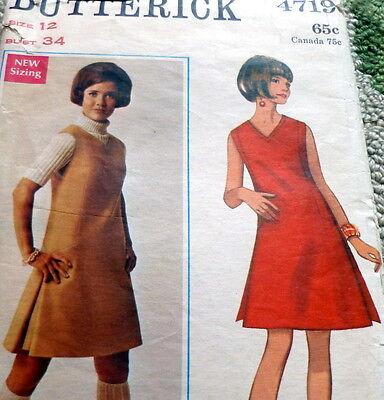 *LOVELY VTG 1960s DRESS Sewing Pattern 12/34