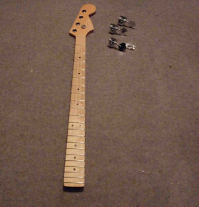 fender style bass guitar neck - maple - right - 4 string squier
