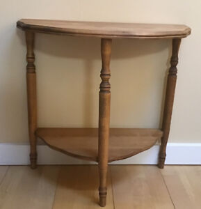 Antique Small Half Moon Table