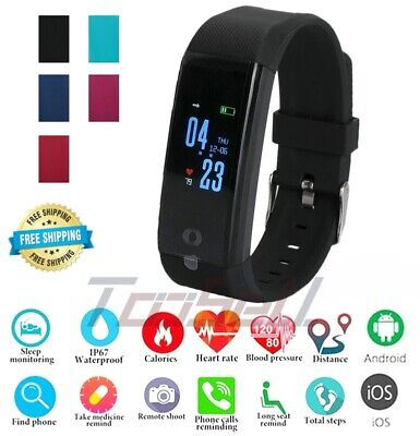Smart Watch Fitness Tracker Fit*bit Bluetooth Step Caolorie Sport Android iPhone