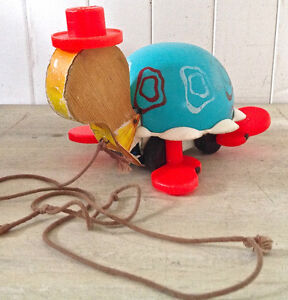 Vintage 1962 Collection. Jouet ancien. Tortue FISHER PRICE