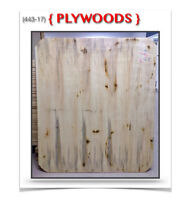 "(443-17)  PLYWOODS {42""& 48""x 42""x 5/8""} ""COINS RONDS""  3.99$ /c"