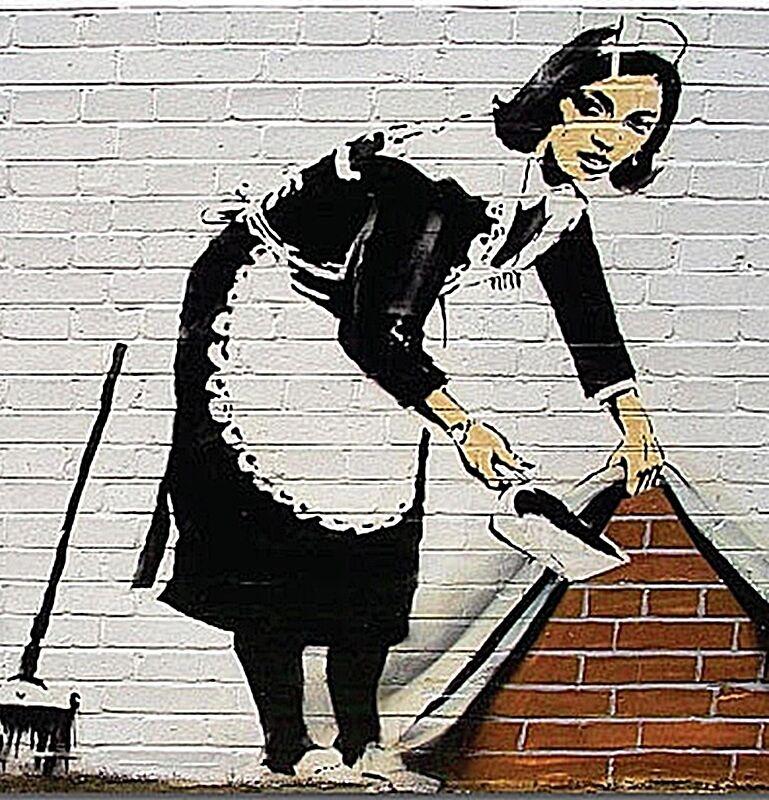 Banksy Policeman And Dorothy drinks mat og coaster