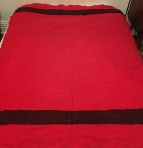 rare vintage 1920s  red black 4 point hudson bay blanket 60x80