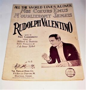 Rudolph Valentino- Piano music sheet-vintage