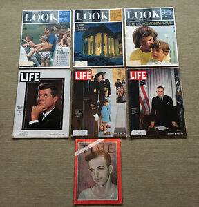 REDUCED! Vintage JOHN F. KENNEDY Magazines 3 LOOK 3 LIFE 1 TIME