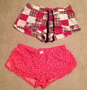 TWO Pairs of Ladies' Aerie Pyjama Boxer Shorts - Size Large