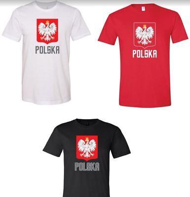 Crest Short Sleeve T-shirt - Polska Polish Crest Eagle T-shirt Polish Pride Short Sleeve Tee Polish Stamp