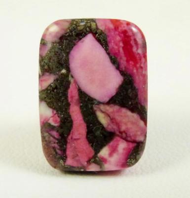 Matrix Pyrite Jasper Many Colors Tie Tack COOL!! 17x13 MM