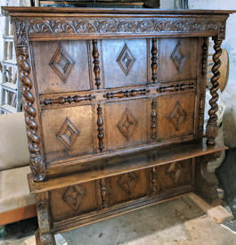 Fabulous Antique Oak Settle/Dresser Top