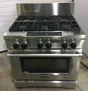 "Kitchenaid 36"" dual fuel gas range $5500"