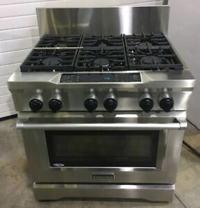 "36"" dual fuel range ss $5500 Kitch SS ms as **"