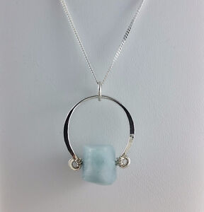Aqua Silver Necklace