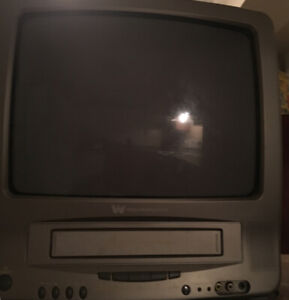 SMALL TV WITH VHS PLAYER!