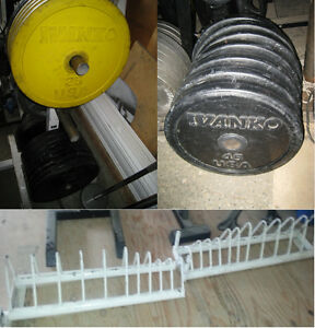 280lbs IVANKO OLYMPIC BUMPER PLATES - Selling for $2/lb as a set