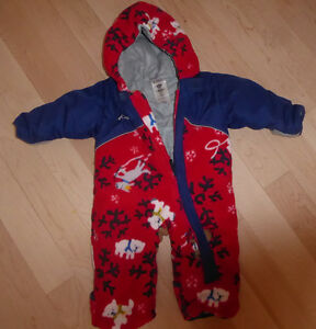 Warm Columbia fleece snowsuit, size 3-9m, Joe snowsuit $15, $10