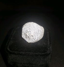 Brand new Cubic Zirconia Real Silver ring no. 6