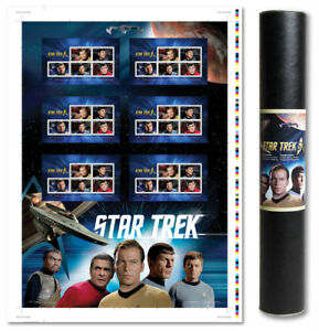 2016 Star Trek 50th Anniversary - Uncut Press Sheet Stamps