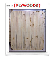 """(443-17)  PLYWOODS {42""""& 48""""x 42""""x 5/8""""} """"COINS RONDS""""  3.99$ /c"""