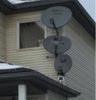 Satellite dish service and installation.