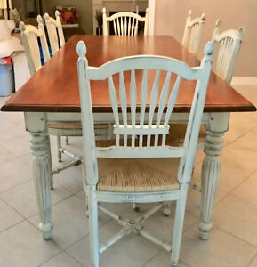 French Country style Dining Room table and 8 chairs