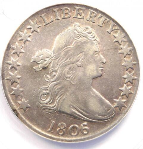 1806/5 Draped Bust Half Dollar 50C Overdate - Certified ANACS XF40 Detail (EF40)