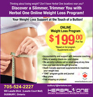 Weight Loss Programs from Herbal One in Sudbury