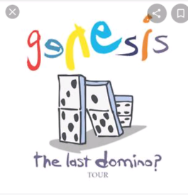 GENESIS THE LAST DOMINO TOUR 1 X TICKET £85 MANCHESTER 24/9/2021